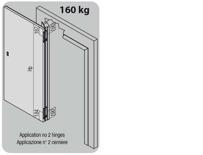 K2816 hinges applications