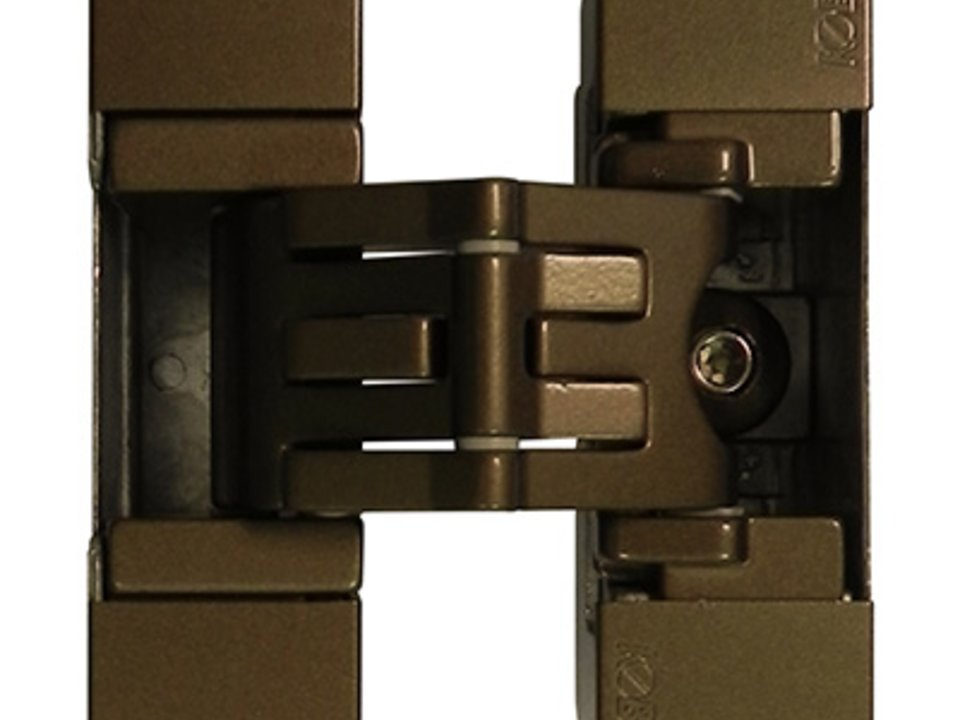 KUBICA K2700 BR | Concealed door hinge in bronze finish