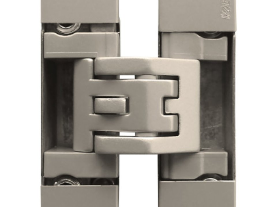 KUBICA Kubicenter K6400 NS | Concealed door hinge in satin nickel finish