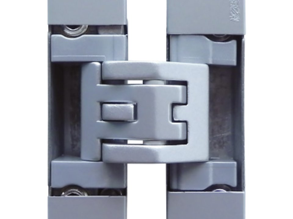 KUBICA Kubicenter K6400 CS | Concealed door hinge in satin chrome finish
