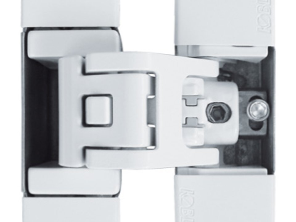 KUBICA K6700 BI | Concealed door hinge in white finish