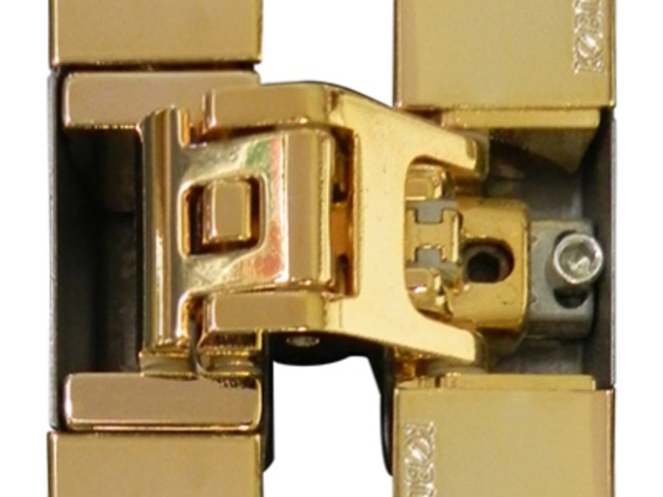 KUBICA K6700 OR | Concealed door hinge in polished gold finish