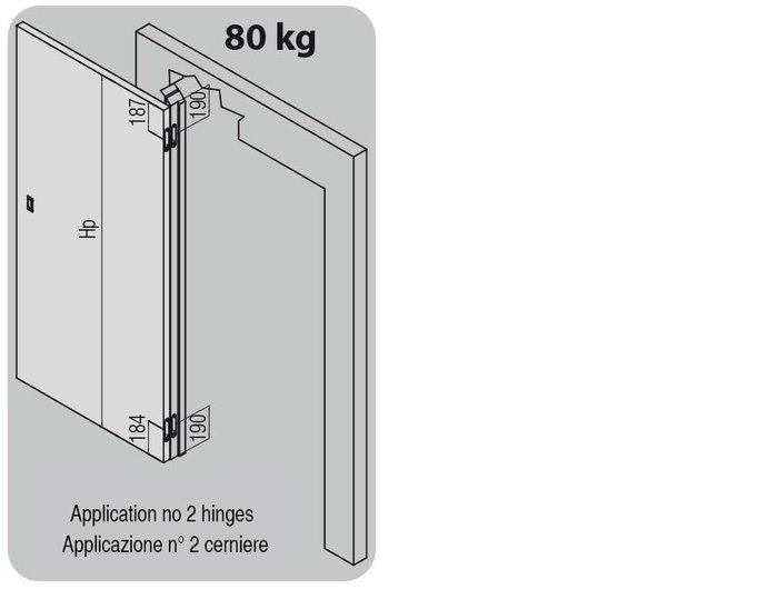 K2780 hinges applications